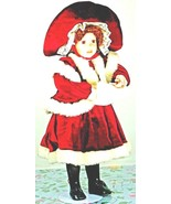 """Brown Hair Porcelain Doll 22"""" Inches Tall Stuffed Body Winter Outfit (L3... - $49.99"""