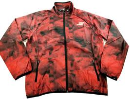 new SKECHERS men jacket running water resistant go trail red black XL MS... - $47.99