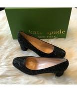 Women's Kate Spade Black Glitter Dolores sz 6.5 - $144.05