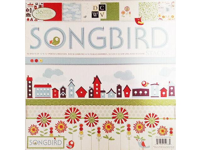 DCWV Songbird Cardstock Paper Pad #PS-005-00079