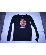 Women's Iowa Hawkeyes Breast Cancer Awareness M L/S Shirt (Black) Adidas - $18.69