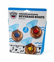 Inflatable Pool Party Beverage Boats Bling Diamond Rings Set Of 3 BRAND NEW