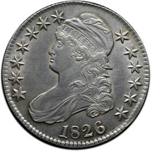 1826 Capped Bust Silver Half Dollar 50¢ Coin Lot# A 431
