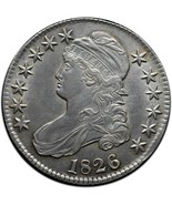 1826 Capped Bust Silver Half Dollar 50¢ Coin Lot# A 431 - €167,76 EUR
