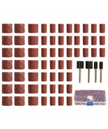 100pcs 60/120/320 Grit Drum Sanding Kit Fit D. Rotary Tools with 1/2 1/4... - $18.99