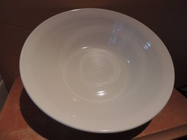 "Metlox Poppy Trail Serving Bowl 9+"" White Mid-Century Modern California - $19.99"
