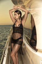 Women's Black Mesh Fringe Brand Designer Swimsuit Beach Cover Up image 1