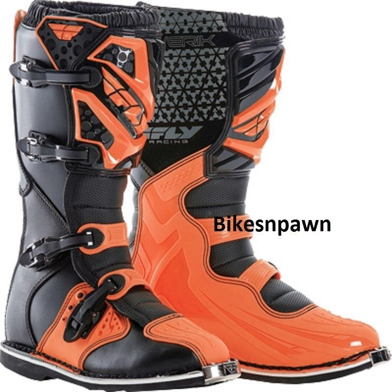 New 2016 Adult Size 10 Fly Racing Maverik Orange/Black Motocross MX ATV Boots