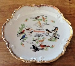 "COLLECTIBLE BIRD PLATE CANADIAN SONGBIRDS Song Birds SCALLOP EDGES 7 1/2"" - $11.25"