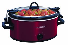 Crock-Pot 4-Quart Cook & Carry Oval Manual Slow Cooker, Red Stainless Steel - $631,06 MXN