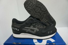 Asics men gel lyte iii running shoes black white size 10.5 us - $108.85