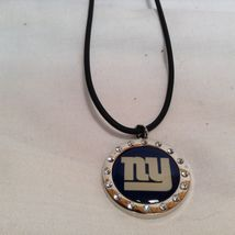 NEW Aminco Certified NFL NY Giants Earring/Necklace/Pin Jewelry Set image 6