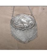 Antique Silver Chainmail Mesh Purse - $50.00