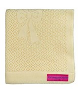 Southampton Home Lace Weave Bears & Bows Baby Blanket Yellow - $34.78