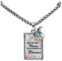 Custom Only the Best Moms Get Promoted to Memaw Silver Necklace Jewelry Initial - $15.19