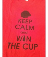Chicago Blackhawks Red Keep Calm And Win The Cup T-Shirt 3XL Good Condition - $10.93