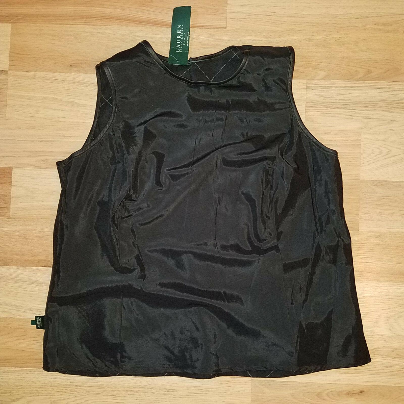 new RALPH LAUREN women sweater vest black 16W - MSRP $185 image 11