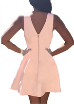 Dislax V Neck Satin Short Homecoming Dresses Graduation Dress Pink US 8 - $79.99