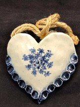 Iron & Lace Ceramic Pocket Sconce Bentonsport IA Blue - $23.71