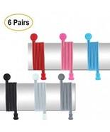 Pack Of 6 Pairs No Tie Shoelaces | Elastic Rubber Lock No-Tie Laces Wit... - $30.40