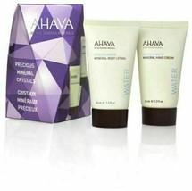 AHAVA Active Dead Sea Minerals Water 2 Pc Set Hand & Body Lotion New In Box - $12.86
