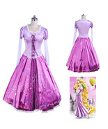 Disney Rapunzel Cosplay Fairytale Tangled Princess Dress Costume - $81.83