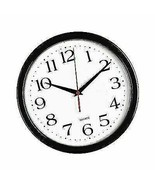 Bernhard Products Quality Quartz Black Wall Clock Silent Non Ticking - 1... - $15.83