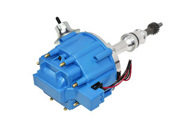 SBF Ford Small Block 260 289 302 HEI Ignition Blue Cap Distributor w/ 65K Coil image 2