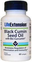 Life Extension Black Cumin Seed Oil with Bio-Curcumin (60 Softgels) - $17.95