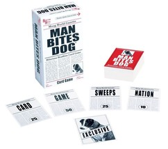 University Games Man Bites Dog Card Travel Family Party Game 2 or more 8... - $7.15