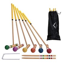 Himal Premium Wooden Six Player Croquet Set with Carrying Case 28 inch - $22.32