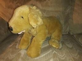 """Build A Bear Workshop Dog Plush 17"""" Shaggy Belly Beige Puppy Beanbag Stuffed... - $29.69"""