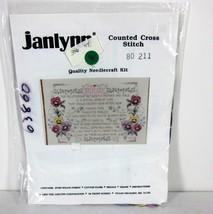 "JANLYNN  80-211 ""MOM"" COUNTED CROSS STITCH KIT USA 1993 NEEDLECRAFT KIT ... - $35.91"