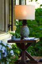 "28"" Welcoming Pineapple Motif Pieced Slate Table Lamp Indoor or Outdoor ... - $164.22"