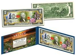 VIETNAM * Independence Freedom & Happiness * Colorized $2 Bill U.S. Lega... - $13.06