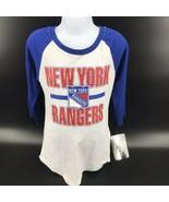 NHL New York Rangers Girls Shirt 3/4 Length Sleeves Size XL (14/16) - NE... - $22.99
