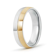 Two Tone High Polished Comfort Fit Wedding Band for Men - $476.10