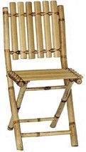 Set Of 2 Bamboo Folding Chairs Home Seating Outdoor Indoor - $157.90