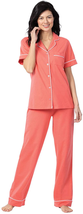 Pajamagram Pajama Set For Women - Pajamas For Women Cotton, Short Sleeve - $49.25