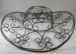 Vintage Wrought Iron Mexican Sombrero Wall Decor 1960s Mexico Hat Brim B... - $79.19