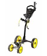 Callaway Trek Push Cart Trek 4-Wheel Compact Push Cart, Black/Yellow - $149.00