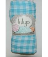Lulijo baby original reversible muslin swaddle LJ055 blue white - $19.98