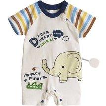 Toddler Bodysuit Baby Romper Infant Onesies Creep Short Sleeves Little Elephant