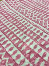 Contemporary Pink and White Stripe Print Multi-Purpose Fabric 1.625 yds FF2 - $46.31