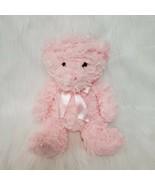 "11"" Hobby Lobby Pink Bear Minky Plush Pink Bow Soft Toy Stuffed Animal G... - $24.98"