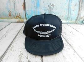 Vtg Salem Spring Works Salem VA Mesh Rope Snapback Trucker Dad Hat - $14.84