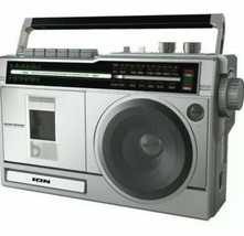 ION Audio Retro Rocker Portable Boombox Speaker Bluetooth AM/FM Radio Cassette - $49.49
