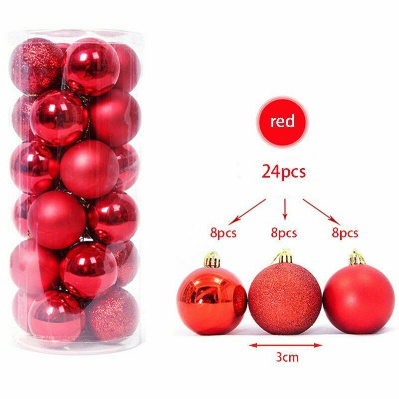 Newly Tree Ball Decorations Ornament Hanging Pendant Merry Christmas House Party - $9.46