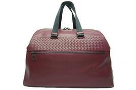 Auth Bottega Veneta Intrecciato Travel Hand Bag Wine Red Leather 426956 - $1,806.75