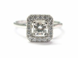 Hearts On Fire Princess Cut NATURAL Diamond Engagement Ring .77CT G-H VS2 - $3,811.50